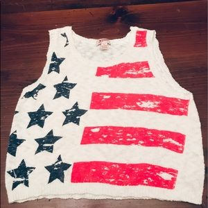 ❤️American Flag Knitted Tank Top